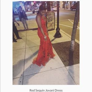 Red Jovani Dress